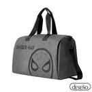 Marvel 漫威系列 蜘蛛人 正版授權 手提/側背 可插拉桿 休閒旅行袋 行李袋 旅行袋 灰色 202A09