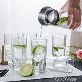 冷水壺 耐熱玻璃壺家用冷水壺無鉛水晶玻璃透明過濾大容量果汁飲料壺1升  coco衣巷