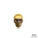 點睛品 Noir系列 骷顱頭 黃金耳環(單只銷售)