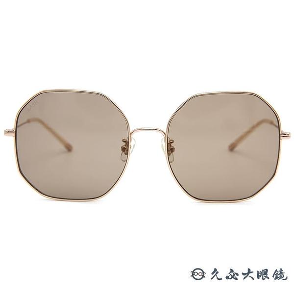 LASH 墨鏡 BLISS SG17 (霧金) 多邊形 韓國 太陽眼鏡 久必大眼鏡