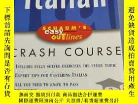 二手書博民逛書店Italian罕見CRASH COURSE(具體看圖)Y6856