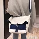 帆布包包女2019新款日韓ins大容量布袋包學生上課包寬肩帶斜挎包 小艾新品