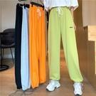 運動褲今年流行的褲子女2021薄款寬鬆闊腿高腰顯瘦炸街束腳運動褲ins潮 雲朵走走