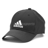 adidas 帽子 六分割帽 輕量 電繡 黑白 黑底白LOGO 老帽 男女款 棒球帽 【PUMP306】 S98159
