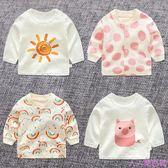 春秋女童寶寶打底衫2嬰兒春裝純棉3男童長袖t恤新款上衣1歲0