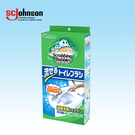 【日本SC Johnson】沖拋可分解自帶洗劑馬桶刷(刷頭4入)-附刷座