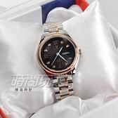 valentino coupeau范倫鐵諾 古柏 風車紋晶鑽時刻指針錶 防水手錶 女錶 黑面x玫瑰金 V61607TRAL-2