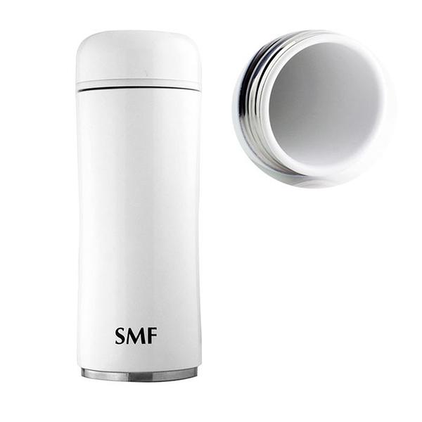 【限量送】 SMF骨瓷保溫杯 蘑菇款 350ml (鮮乳白)❤加贈專用攜護袋