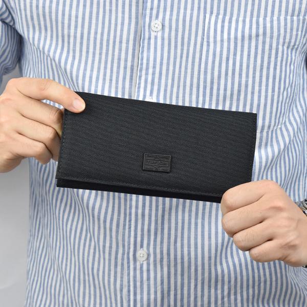 尼龍長夾 潮流素款黑色休閒皮夾NWE2