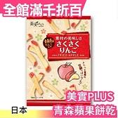 日本 美實PLUS 青森蘋果脆餅乾 14g x 5包入 薯條造型 水果乾 餅乾 零食 點心 下午茶【小福部屋】