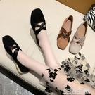 瑪麗珍鞋 單鞋女春季新款復古絲帶瑪麗珍鞋晚晚風溫柔鞋低跟方頭奶奶鞋 生活主義