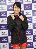 MIZUNO美津濃 女路跑風衣外套(黑) 連帽外套 防風防潑水 A77WS-32009