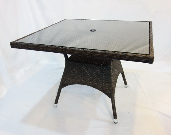 【南洋風休閒傢俱】戶外休閒桌椅系列-100公分鋁合金休閒編藤餐桌  戶外餐桌 (HT103 105)