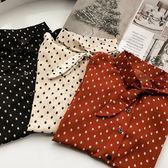 (全館一件免運費)DE SHOP~(XA-2617)長袖雪紡襯衫寬鬆顯瘦長袖襯衫