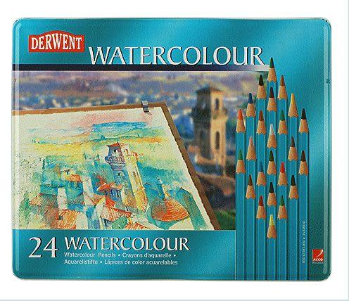 英國Derwent WaterColour系列/24色彩色鉛筆*32883