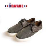 ORWARE-反毛皮綁帶休閒板鞋/男款 622047-05(灰)