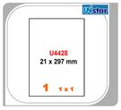 【西瓜籽文具】裕德 電腦標籤 1格 US4428 100張 三用標籤 列印標籤