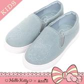 HELLO KITTY X Ann'S親子系列花園牛仔布懶人鞋童鞋-藍