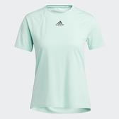 【12周年慶跨店現貨折後$1380】Adidas HEAT.RDY 女裝 短袖 T恤 訓練 加長後襬 胸前小LOGO 薄荷綠 H20749
