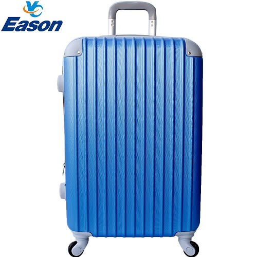 【YC Eason】超值流線型20吋可加大海關鎖ABS硬殼行李箱 海洋藍
