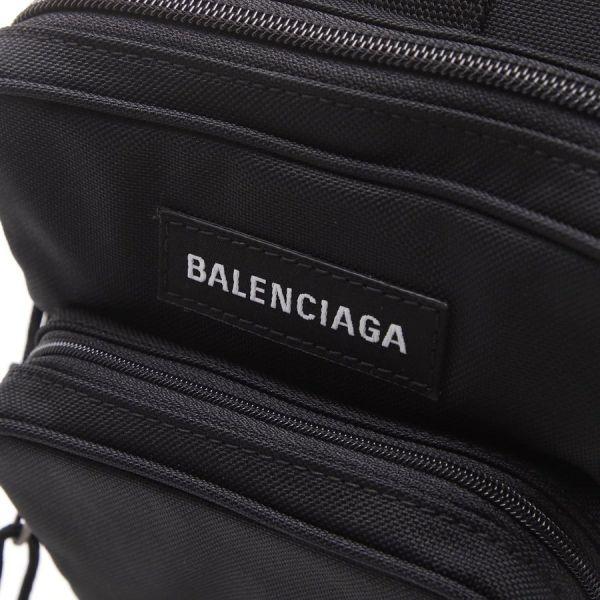 ■現貨在台■全新真品■Balenciaga 男款黑色 Explorer 尼龍單肩包