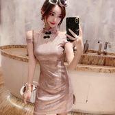 8折免運 改良旗袍 新款女裝春裝甜美洋裝氣質改良版旗袍式年輕款少女短版裙子