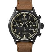 TIMEX X TODD SNYDER 刻劃時代計時皮帶腕錶-黑X褐
