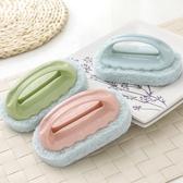 纖維海綿清潔刷 把柄菜瓜布 清潔刷 刷子 浴缸 手把 洗鍋刷 海綿刷 加厚纖維 衛浴【歐妮小舖】