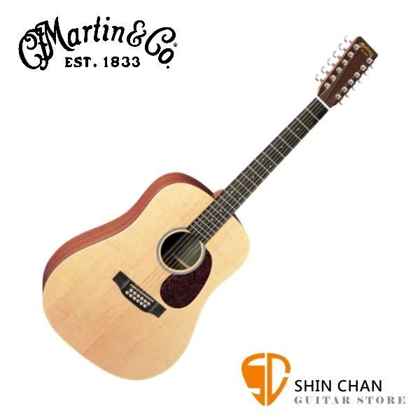 Martin D12X1AE 可插電 12弦單板民謠吉他 41吋/桶身: D桶   【電木吉他/電民謠吉他/台灣總代理/公司貨】