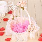 婚禮花童撒花小花籃伴娘手提蕾絲撒花瓣花籃結婚慶裝飾用品 樂芙美鞋