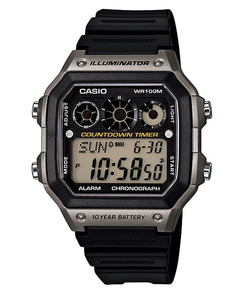 【CASIO宏崑時計】CASIO卡西歐十年電池 運動電子錶 AE-1300WH-8A 100米防水 台灣卡西歐保固一年