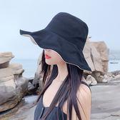 雙面漁夫帽女日系大檐百搭夏網紅防曬紫外線遮陽帽韓版潮太陽帽子