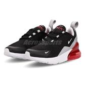 【六折特賣】Nike 慢跑鞋 Air Max 270 PS 黑 白 紅 大氣墊 運動鞋 童鞋 中童鞋【PUMP306】 AO2372-013