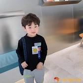 男童t恤長袖寶寶春裝小童潮裝童裝兒童打底衫男寶寶體恤t【小獅子】
