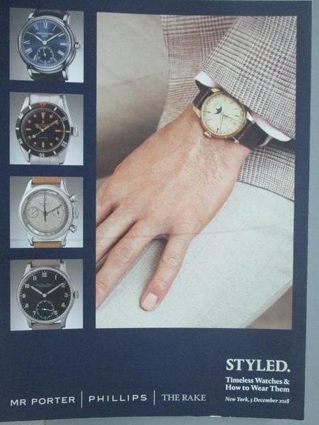 【書寶二手書T2/收藏_ZHT】Phillips_Styled Timeless Watches…2018/12/5