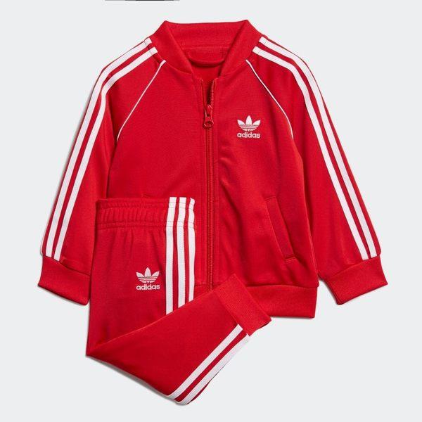 ADIDAS SST TRACK SUIT 童裝 小童 外套+長褲 休閒 基本款 舒適 紅【運動世界】EI9855