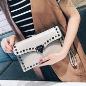 MG 長夾-小包包女鉚釘手包韓版個性時尚百搭氣質名媛手拿包女