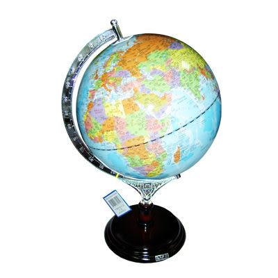 木質底座地球儀10吋39cm