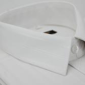 【金‧安德森】白色寬暗紋長袖襯衫