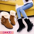 雪靴女 2020冬季新款韓版雪地靴女鞋短筒加絨保暖平底平跟學生靴子女棉鞋 源治良品