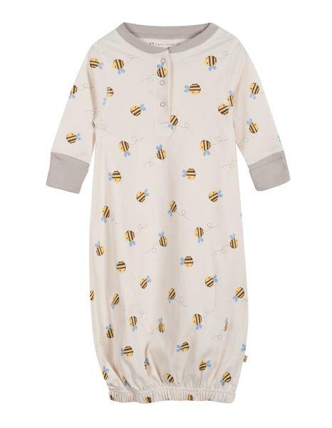 【英國Frugi】有機棉長袖睡袍 - Buzzy蜜蜂系列 GN017