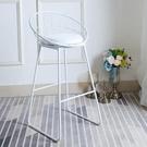 吧台椅 金色服裝店拍照高腳高凳子家用簡約...