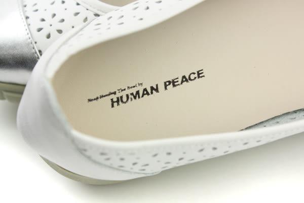 HUMAN PEACE 休閒鞋 女鞋 銀白色 no566