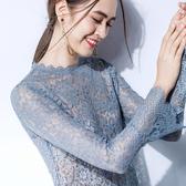 蕾絲內搭衫上衣(三色S-2XL可選)/設計家 AL291002
