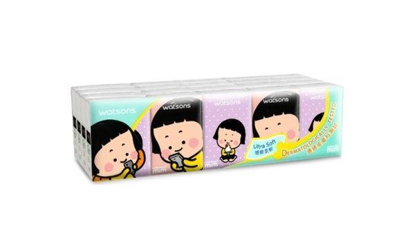 屈臣氏迷你紙手帕3層10抽20包(Mobile Girl)