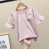 女童短袖T恤夏季2020新款中大童半袖體恤純棉洋氣兒童上衣5-12歲 小城驛站