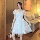 蛋糕裙 2021夏季新款宮廷風仙女裙子法式初戀甜美白色泡泡袖連身裙公主裙 寶貝寶貝計畫 上新