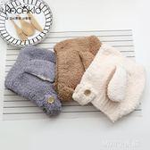 冬季新款男女寶寶帽子嬰兒保暖毛絨絨帽卡通可愛長耳朵加厚護耳帽 晴川生活館