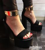 模特禮服鞋18cm/20公分超高跟鞋粗跟防水臺包頭單鞋夜店鞋    傑克型男館
