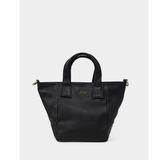 真皮包包-R&BB牛皮輕巧簡約實用拉鍊水餃包托特袋(附真皮可調式背帶)-黑色/棕色